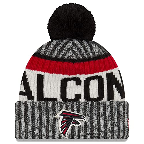 b04cf651b1ff64 New Era Atlanta Falcons NFL Sideline On Field 2017 Sport Knit Beanie Beany  Mütze Grey