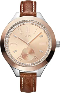 JBW Luxury Women's Aria Diamond Wrist Watch with Leather Bracelet