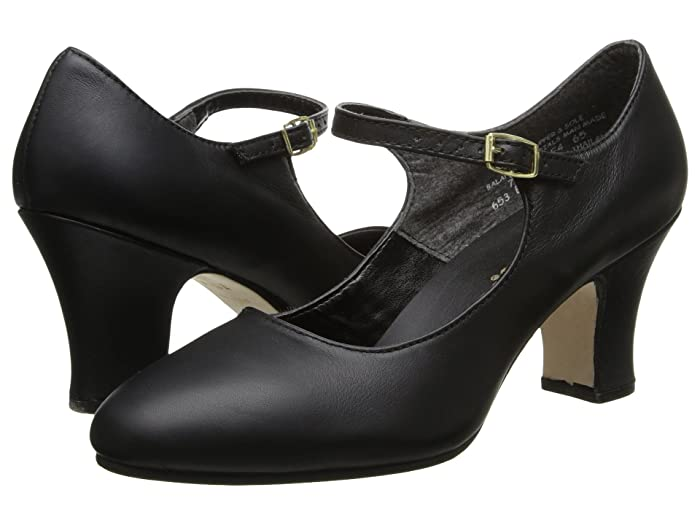 Vintage 1920s Shoe Styles Capezio Manhattan Character Shoe Black Womens Tap Shoes $76.00 AT vintagedancer.com