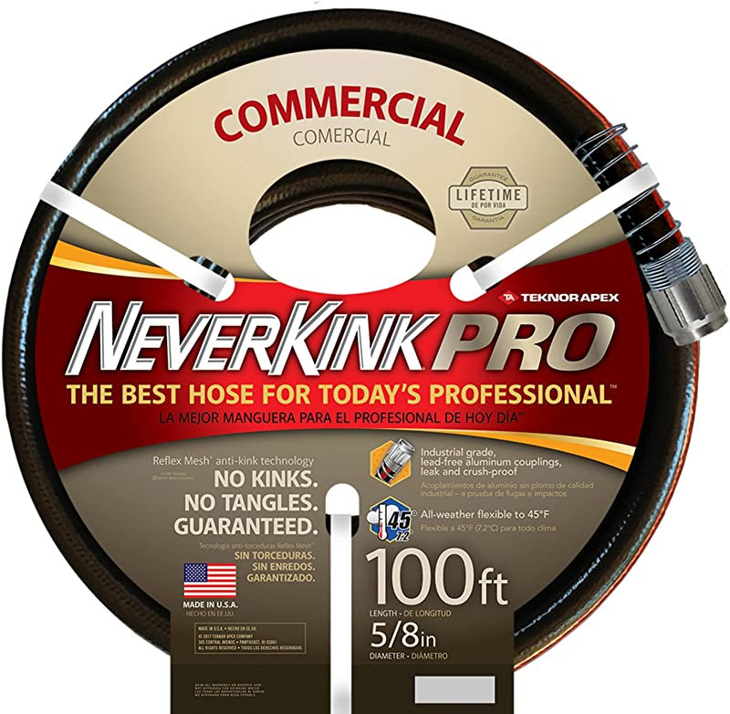 Teknor Apex Neverkink 8844 100 PRO Water Hose 5 8 In X 100 Feet