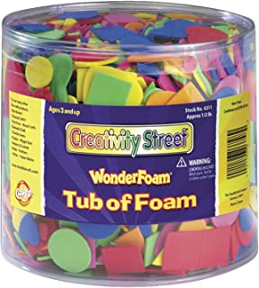 Chenille Kraft Wonderfoam Assorted Shape Decorative Foam Shape, Assorted Size, Assorted Color, 0.5 lb Tub, Pack of 3000