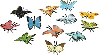 Wild Republic Butterflies Mini Polybag, Toy Figurines, Gifts for Kids, Party Supplies, Sensory Play, Kids Toys, 12 Piece Set