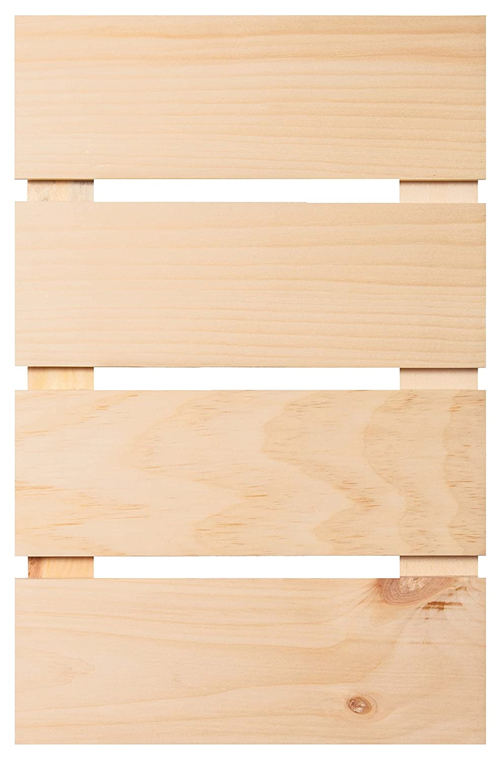 Natural Wood Finish 11.5 x 15.5 Inch Pine Wood Craft Pallet