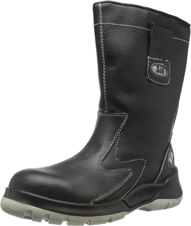 Sir Safety Unisex-Adult Plus Boots, Black, 11 UK(45 EU)
