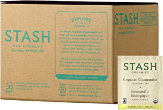 Stash Tea Organic Chamomile Herbal Tea 100 Count Tea Bags in Foil (Packaging May Vary) Individual Herbal Tea Bags for Use in Teapots Mugs or Cups, Brew Hot Tea or Iced Tea