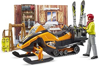 Bruder 63102 bworld Set - Mountain Hut with Snowmobil and Figure