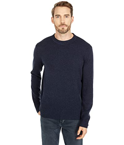 J.Crew Merino Nylon Crew (Heather Indigo) Men