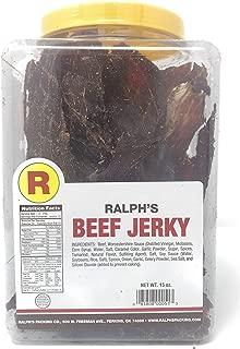 Ralph's Beef Jerky Original 15oz Jar Dry Thin Crunchy Jerky Real Beef Jerky