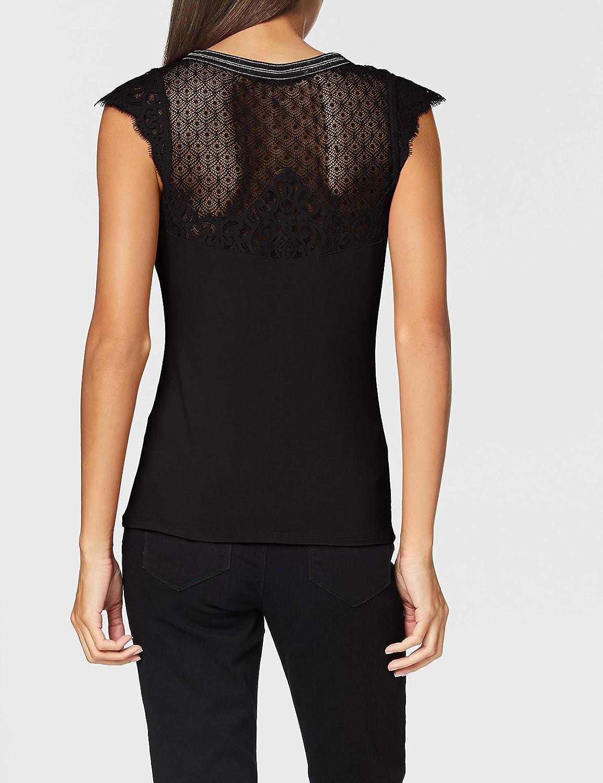 Morgan T-Shirt Manches Courtes Dentelle Derna Camiseta para Mujer