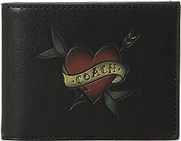 COACH Slim Bill in Tattoo Sport Calf Leather