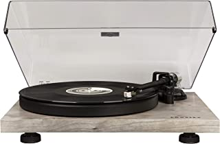 Crosley C6 Belt-Drive Turntable with Built-in Preamp and Adjustable Tone Arm, Grey