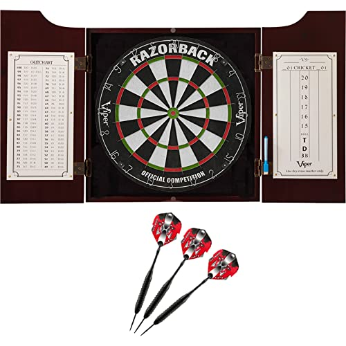 e9c70bf7 Viper Hudson All-in-One Dart Center: Classic Solid Wood Cabinet & Official