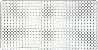 AquaTouch Euro Tile Vinyl Bath Mat 15'x30' , White