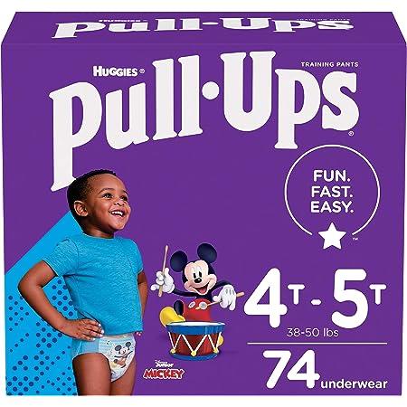 Pull-Ups Boys' Potty Training Pants Training Underwear , 4T-5T, 74 Ct Multi-colored