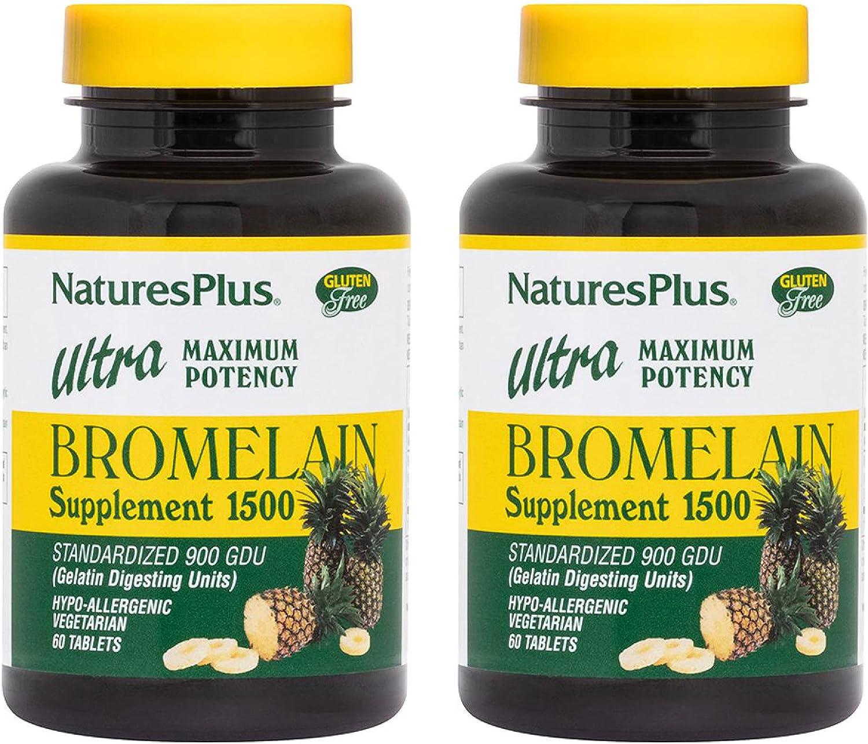 NaturesPlus Ultra Bromelain Cheap bargain 1500 mg - 2 Su of Pack 35% OFF Tablets 60