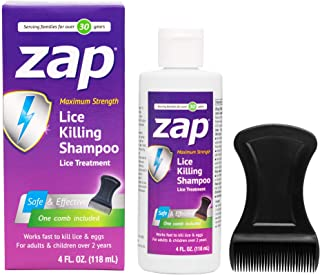 Sponsored Ad - ZAP Liquid Lice Killing Shampoo, Made in USA, For Adults and Children Ages 2 and Up, Trusted for Over 30 Ye...