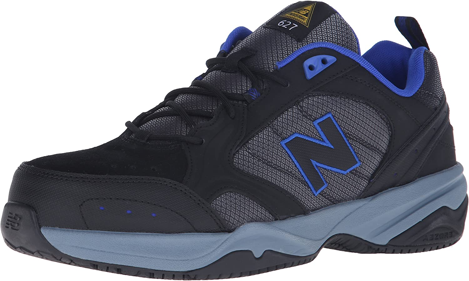 New Balance Mens Steel Toe 627 Suede Cross-Trainer shoes