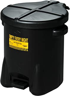 Eagle 935FLBK Black Oily Waste Can, 10 gal Capacity