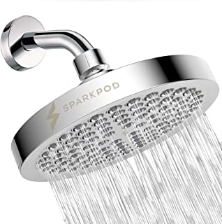 SparkPod Shower Head – High Pressure Rain – Luxury Modern Chrome Look –..