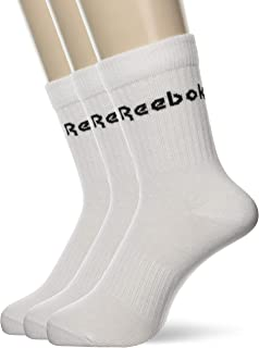 Reebok Unisex Act Core Mid Crew Sock 3P Socks