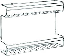InterDesign Classico 2-Shelf Wall Mount Spice Organizer Rack For Kitchen Storage, Chrome