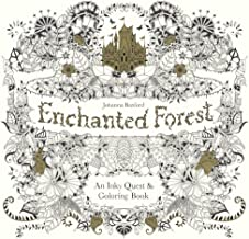 Enchanted Forest: An Inky Quest And Coloring Book (Turtleback School & Library Binding Edition)
