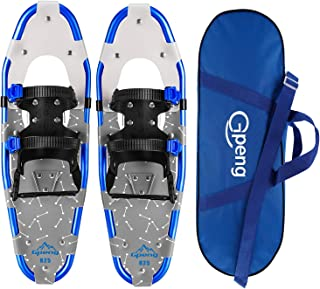 Gpeng Xtreme Lightweight Terrain Snowshoes for Men Women Youth Kids, Light Weight Aluminium Alloy Terrain Snow Shoes with Carrying Tote Bag, 14