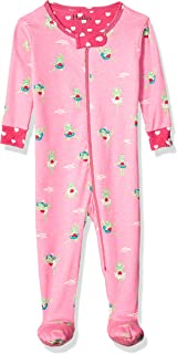 Baby Girls' Organic Cotton Footed Sleepers
