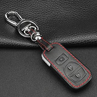 WFMJ 1x Black Silicone Key Cover 1x Black Keyring 3 Buttons Keyless Remote Key Case Cover Holder Chain for Nissan Armada Frontier Murano NV Models Pathfinder Quest Sentra Titan Versa Xterra
