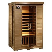 Radiant Saunas 2-Person Hemlock Infrared Sauna with 6 Carbon Heaters, Chromotherapy Lighting, Oxygen Ionizer