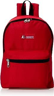 Everest Basic Backpack (Red Embroidered)