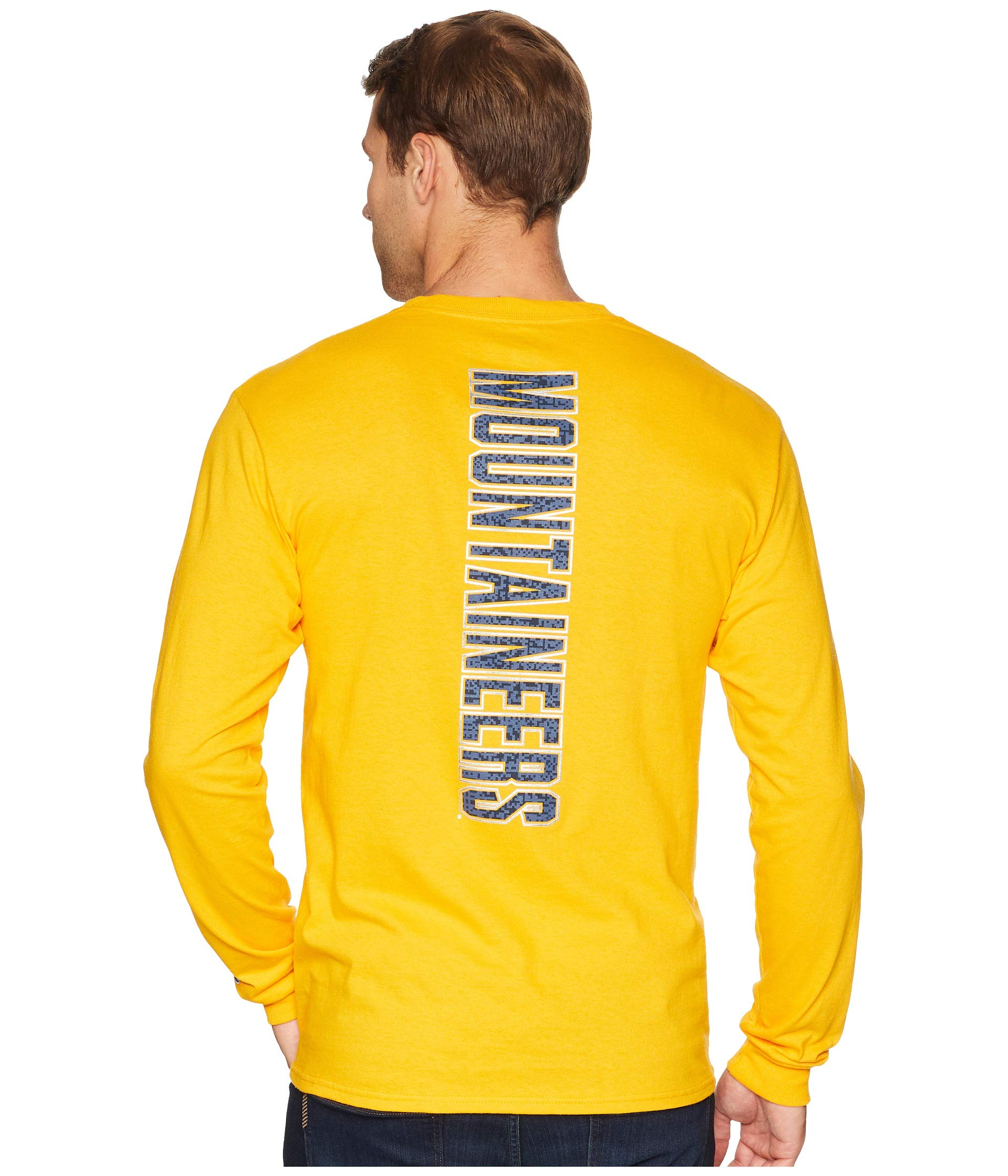 Champion Gold College Long Mountaineers Virginia West Sleeve Jersey Tee rr87x4
