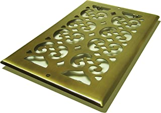 Decor Grates SP610R-A Scroll Plated, 6-Inch by 10-Inch, Antique Brass