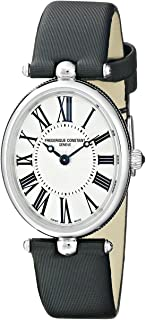 Frederique Constant Women's FC200MPW2V6 Art Deco Analog Display Swiss Quartz Black Watch