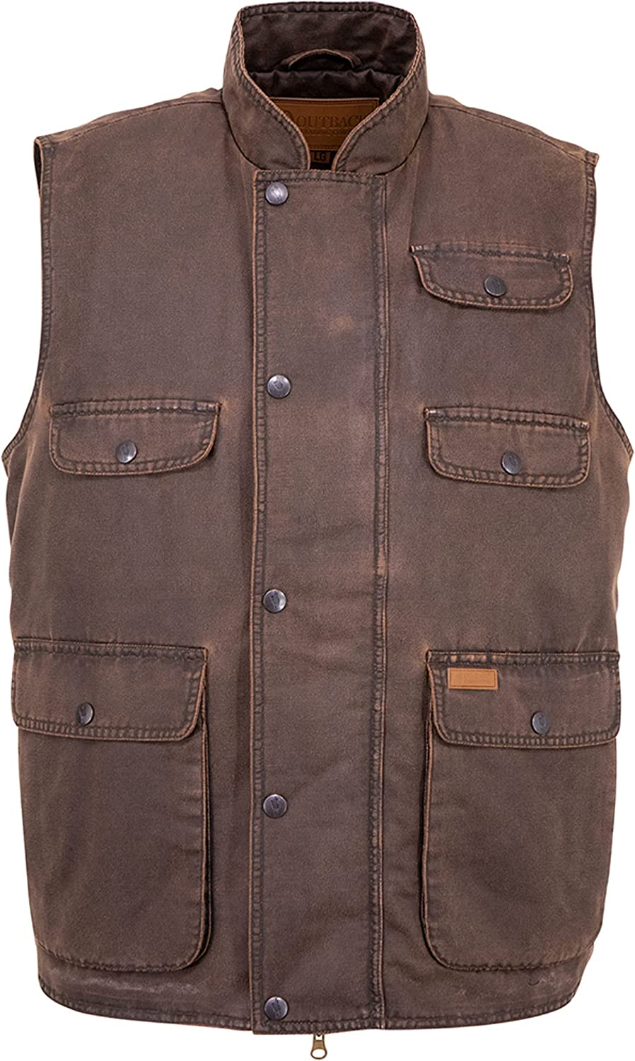 Outback Trading Men's Cotton Outdoor Casual Western Cobar Vest 29742