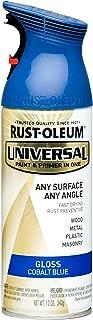 Rust-Oleum 245212 Universal Topcoat Spray Paint, 12 oz, Gloss Cobalt Blue