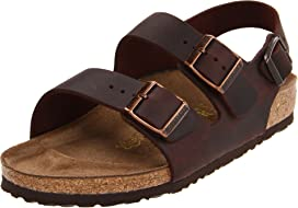 54b64a39aa0dc Birkenstock Milano - Leather Soft Footbed (Unisex) at Zappos.com