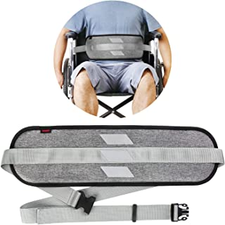 Wheelchair Seat Belt Medical Restraints Straps with Reflective Tape Patients Cares Safety Harness Chair Waist Lap Strap for Elderly (Gray)