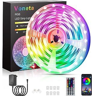 Led Strip 7.5m Rgb Led Streifen,Voneta Bluetooth Led Lichterkette 7.5m mit Steuerbar Via App,16 Mio. Farben, Fernbedienung...