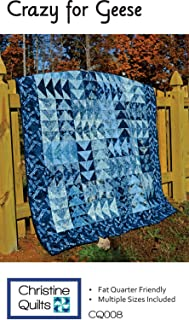 Christine Quilts Quilt Pattern - Crazy for Geese (Four Project Sizes)