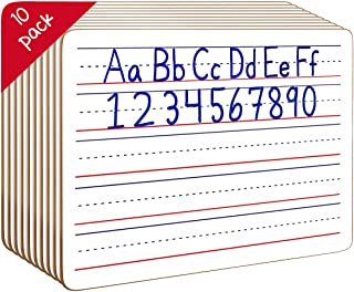 10 Pack Dry Erase Ruled Lap Boards l 9 X12 inch Lined Whiteboard (Double Sided White Boards ) (Without Accessories)