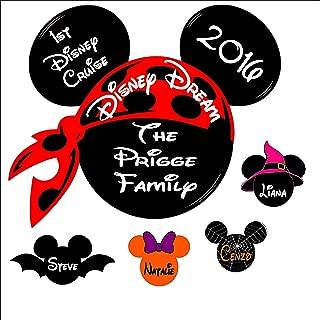 Custom Disney inspired Cruise Magnet Halloween - Personalized Door Magnet - Sign