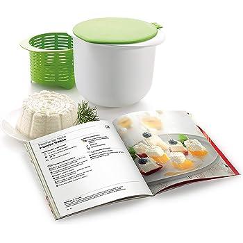 Lékué - Kit para elaborar queso fresco y libro de recetas en español