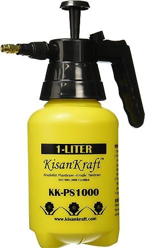 Kisan Kraft KK-PS1000 Manual Sprayer (1 Litre, Colour May Vary, Plastic)