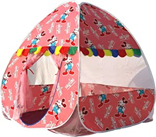 Homecute Foldable Popup Kids Play Tent House for 1 Year to 12 Years 110 x 110 x 120 cm Printed - Pink
