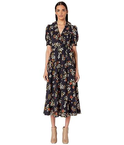 JILL JILL STUART Floral Midi Dress (Navy Multi) Women
