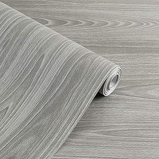 Papier adhésif aspect bois pour comptoir, cuisine, armoires, mur, table, porte, bureau (gris, largeur de 45cm...