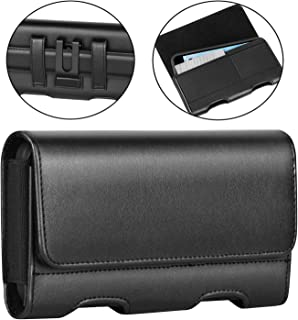 BECPLT Motorola Moto Z3 Play Case,Moto Z2 Play Holster case,Leather Pouch Holster Belt Clip &Loops Case with Card Holder for Motorola Moto G6 Play/Moto G5 Plus/Moto Z Play Droid/Moto Z2 Force (Black)
