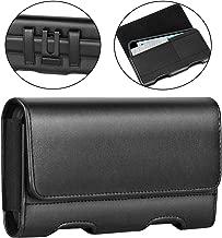 BECPLT Motorola Moto Z4 Case, Moto Z3 Play Holster case,Leather Pouch Holster Belt Clip &Loops Case with Card Holder for Motorola Moto G6 Play/Moto G7/ Moto G5 Plus/Moto Z2 Force, Z Play (Black)