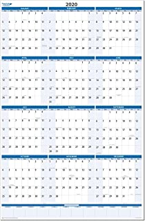 Sky Blue 2020 Dry and Wet Erasable Vertical Wall Calendar 32 in. Wide x 48 in. Tall (MA)